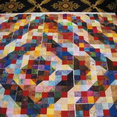 Quilts and a Mug: Large Mountain Trail variation done | Log cabin ... : quilts and a mug - Adamdwight.com