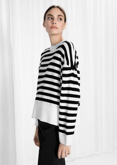 & Other Stories image 1 of Knitted Sweater in Stripes