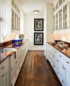 If my kitchen wooden floor was straight...