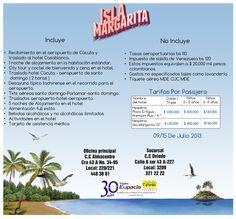 #IslaMargarita del 9 al 15 de Julio de 2013