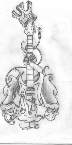 Guitar Tattoo Designs | MadSCAR
