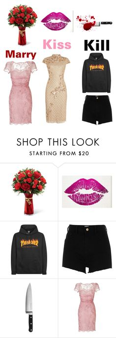 """""""Marry, Kiss, and Kill Inspired Outfits"""" by aurejuanbaston ❤ liked on Polyvore featuring Oliver Gal Artist Co., River Island, KitchenAid, Emilio Pucci and Adrianna Papell"""
