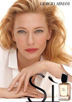 Cate Blanchett for Giorgio Armani 'Si' Fragrance Campaign Perfume Armani, Armani Fragrance, Perfume Ad, Cate Blanchett, Anuncio Perfume, Fantasy Fashion, Giorgio Armani Si, Flawless Face, Gwyneth Paltrow