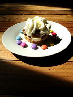 Sablé de petit Lu, Nutella, banane, Smarties #dessert #cooking #food #chocolate #nutella #cuisine #faitmaison