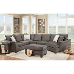 Have to have it. Chelsea Home Furniture Cupertino 3 Piece  sectional Sofa - $2279.99 @hayneedle  This one is a liiiiiittle weird.