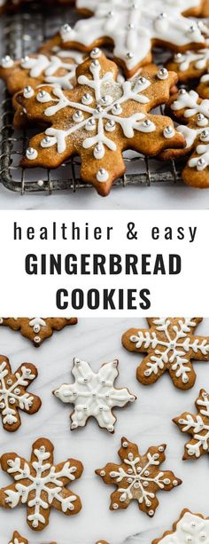 these gingerbread cookies and made with healthy ingredients and are surprisingly easy to make! cookies these gingerbread cookies and made with healthy ingredients and are surprisingly easy to make! Healthy Gingerbread Cookies, Healthy Christmas Cookies, Vegan Christmas, Healthy Cookies, Christmas Pudding, Holiday Cookies, Christmas Desserts, Lemon Desserts, Healthy Dessert Recipes