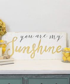 'Sunshine' Wood Wall Sign, Wall Art, Wood Signs, Rustic Home Decor, Distressed Decor #affiliate #home #farmhouse