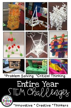 STEM for the Entire Year includes over 50 Challenges, experiments, and activities your students will Steam Activities, Science Activities, Activities For Kids, Science Lessons, After School Club Activities, Preschool Science, Halloween Activities, Holiday Activities, Stem Projects