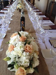 Family style box centerpieces