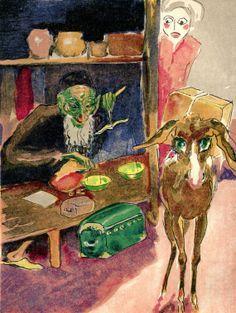 Illustration by Kees van Donegen ~ Via CarambasVintage Bernard Lewis, Henri Rousseau, Henri Matisse, Modern Artists, French Artists, Art Fauvisme, Dutch Painters, Arabian Nights, Wood Engraving