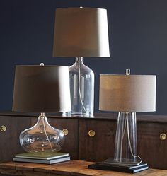 Clear Glass Tapered Table Lamp | Rejuvenation
