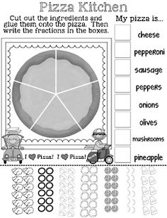 Pizza Fractions Freebie!