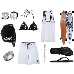 Untitled #138 by ohhhifyouonlyknew on Polyvore featuring A.L.C., J.Crew, Old Navy, Hurley, Arbor, Blue Nile, black and white, tomboy, swimwear and my style