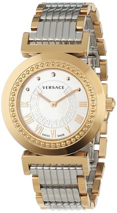 Versace Women's P5Q80D499 S089 Vanity Rose-Gold Ion-Plated Stainless Steel Watch -- To view further, visit now