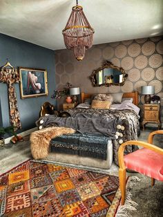 The Unique & Glamorous Maximalist Home of Sarah Parmenter Upcyclist Extraordinaire - The Interior Editor - Trend Furniture Diy Refurbished 2019 Maximalist Interior, Eclectic Decor, Upcycled Furniture, Reclaimed Furniture, Refinished Furniture, My New Room, Room Inspiration, Interior Inspiration, Bedroom Decor