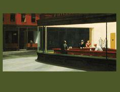 """Edward Hopper (1882-1967) """"Nocne Jastrzębie"""". Lubię."""