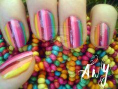 Rainbow Nail Design by AnyRainbow.deviantart.com on @deviantART