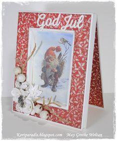 Kortparadis Kortparadis.blogspot.com Kort Håndlaget Scrapping Kortscrapping Kortlaging Card Handmade Homemade korthobby korthobby.no metall charms jul julekort christmas christmascard  Papirdesign
