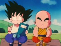 Little Goku and Krillin