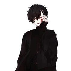 Boy with blood on his cheeks Manga Anime, Manga Boy, Anime Art, Dark Anime Guys, Hot Anime Boy, Anime Boys, Yandere Boy, Estilo Anime, Boy Art