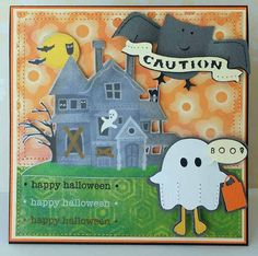 Happy Halloween card made with the #Cricut machine!
