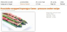 Super easy and fast to make, pressure steaming the prosciutto and the asparagus together give each a more intense flavor! Though asparagus should usually be cooked at low pressure, a…