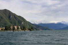 Itália, Lago di Como, Lombardia, um passeio de barco, em abril de 2016