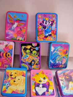 Vintage Lisa Frank Character Collector Tins For Stickers Stationery 1990s Kids, Pusheen Cute, Lisa Frank Stickers, Childhood Memories 90s, Cute Animal Memes, Rainbow Aesthetic, Cute School Supplies, 90s Cartoons, Party Themes
