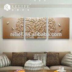 resin relief art flower relief painting frame canvas for print wall art