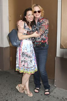 Kristin Davis and Cybill Shepherd are seen out and about in #NYC