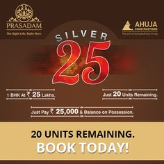 Gift your family comfortable living spaces & healthy lifestyle in the most prominent 40 acre township.  20 units remaining. Book today & get an assured 25 grams silver coin-http://prasadam.in/silver25/