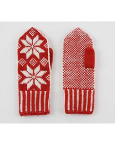 cute mittens ! #mittens #red #white