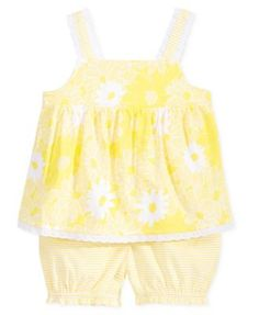 First Impressions Baby Girls' 2-Piece Yellow Flower Tunic & Bloomer Set, Only at Macy's | macys.com