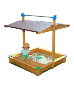 Take a look at this Orange MAXI Sandbox by EXACO on Zulily - need this, the kids would love it and it has a roof for our Pacific Northwest liquid sunshine ;o)