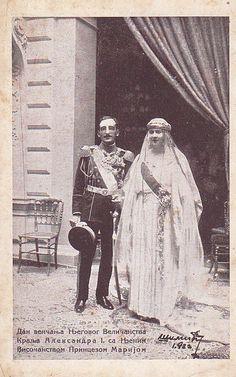 Wedding of King Alexander of Serbia with Maria of Romania Black White Photos, Black And White, King Alexander, Royal Weddings, Belgrade, Serbian, Queen, Fashion History, Romania