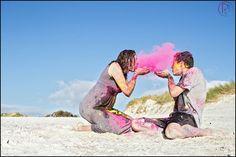 Hout Bay Holi Powder Engagement shoot