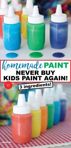How to Make Homemade Paint Buying paint for kids or a classroom can be pricey! Never buy paint again with this 3 ingredient homemade paint recipe! This is a money saving DIY for parents and teachers on a budget (or for those of us who love being crafty! Fun Crafts For Kids, Craft Activities For Kids, Preschool Crafts, Toddler Activities, Diy For Kids, Kids Paint Crafts, Creative Ideas For Kids, Craft Ideas, Creative Crafts