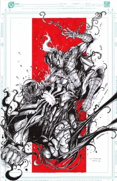 Venom vs, spiderman from Von Comic Art