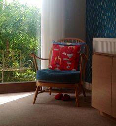 My Ercol Windsor chair. Too cute!
