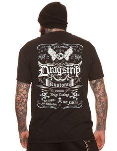 Dragstrip Tshirt hot rod apparel 13 tattoo biker rockabilly shirt Psychobilly Tshirt Hot Rod Skull Kustom  Print on Etsy, £15.99