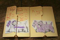 lapbook folding
