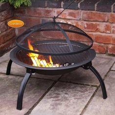 Lucio Folding Portable Barbecue Fire Bowl   Charlies Direct
