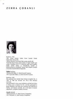 Modern Türk Seramik Sergisi, 1992, Zehra Çobanlı (Erdinç Bakla archive)