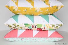Springy Quilted Pillow Covers in my Etsy Shop – The Willow Market