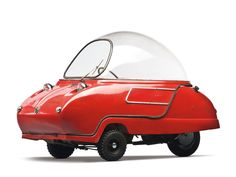 1966 Peel Trident - but it looks like the Jetson's car (on wheels). Microcar, Bmw Isetta 300, Type E, Weird Cars, Crazy Cars, Pedal Cars, Unique Cars, Cute Cars, Love Car