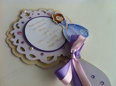 Convite espelho Princesinha Sofia