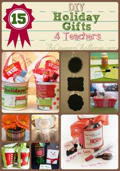 Give your child's teacher a special gift created just for them. These gift ideas have something for every craft level - even I can make most of them! gift for teachers Homemade Teachers Gifts for Christmas Teacher Christmas Gifts, Cute Gifts, Craft Gifts, Diy Gifts, Holiday Gifts, Christmas Crafts, Homemade Christmas, Teacher Presents, Homemade Teacher Gifts