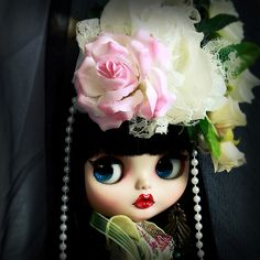 Wow, the lips!  #collectables #crafts #handmade #dolls #dollhouse #ooak #blythe