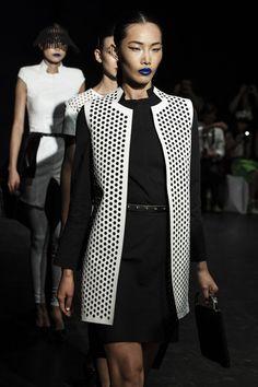Christina Exie white leather laser cut vest ❤