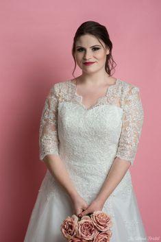 plus size wedding dress by LS Pmus Size Wedding Dress
